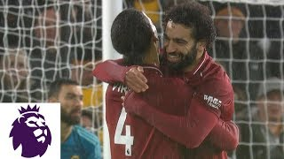 Mohamed Salah's Skillful Flick Puts Liverpool In Front | Premier League | Nbc Sports