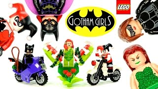 LEGO Batman Gotham Girls Minifigure Collection w/ Catwoman Harley Quinn & Poison Ivy