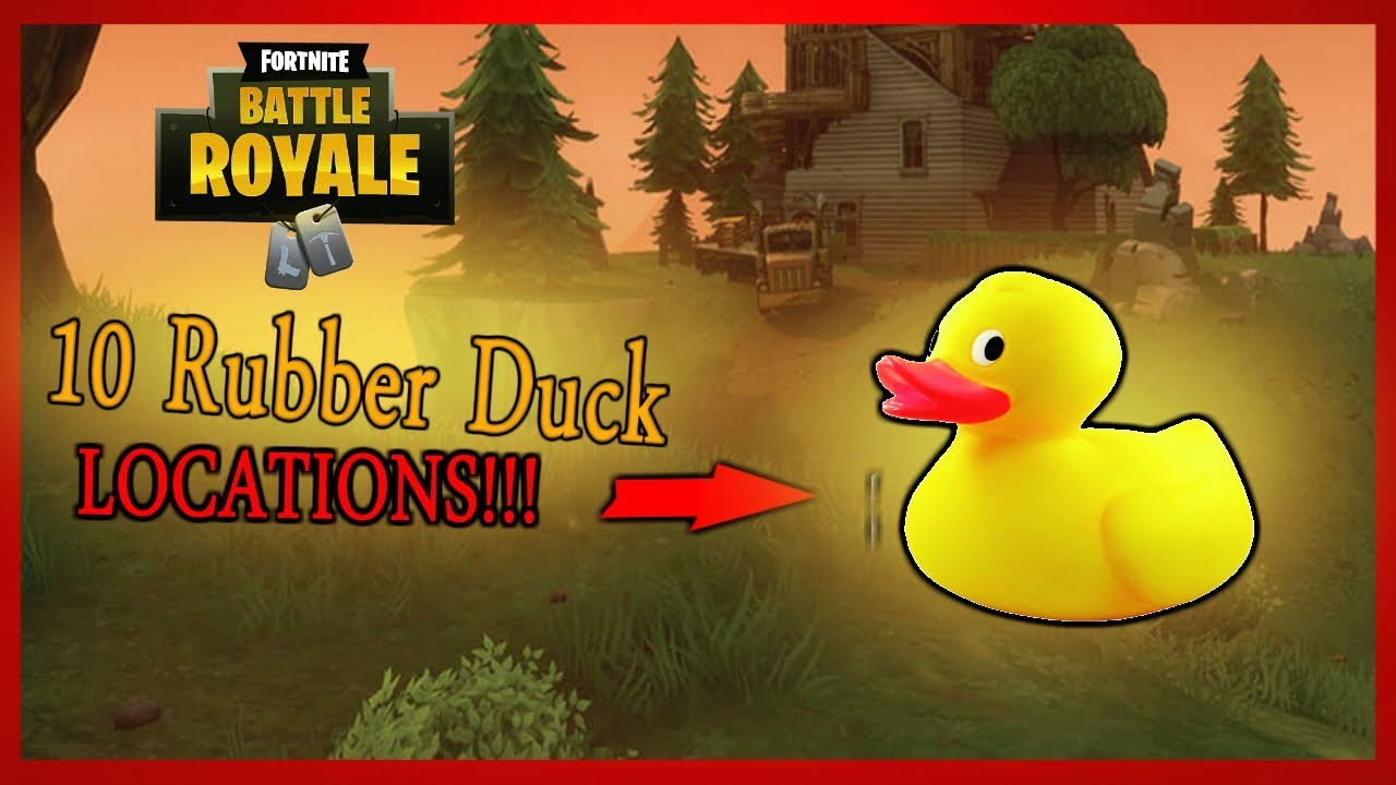 Fortnite Battle Royale (10 EASY RUBBER DUCK LOCATIONS!!!) Week 3 ...