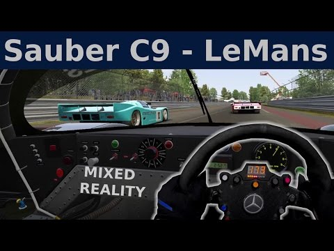 🥇Group C Race - Sauber C9 at LeMans in VR [Mixed Reality]