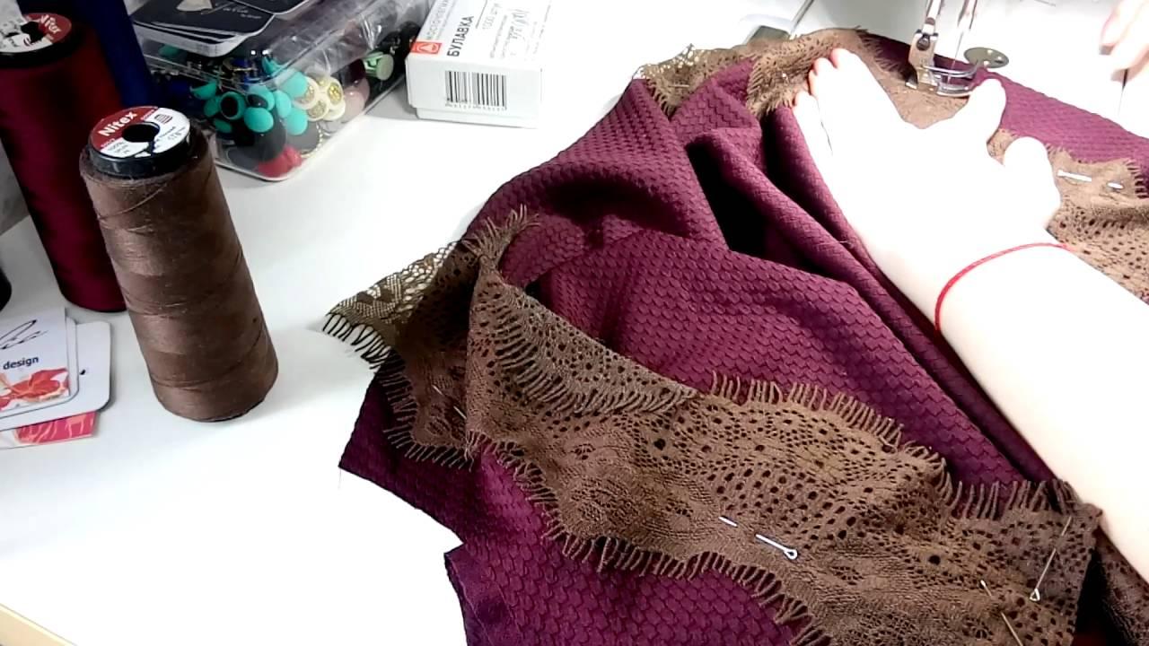 Купить коктейльное платье цвета марсала с баской и рукавами 3/4 в интернет-магазине 1001dress.
