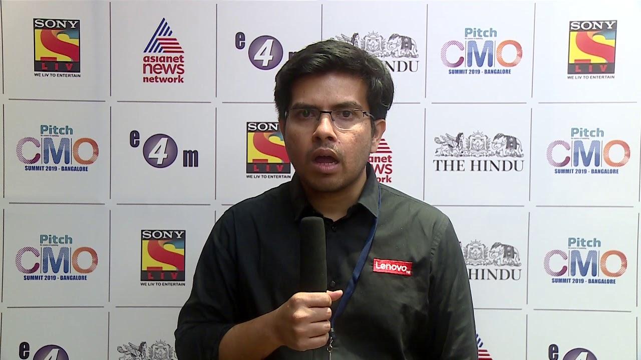 Amit Doshi at Pitch CMO Summit, Bengaluru