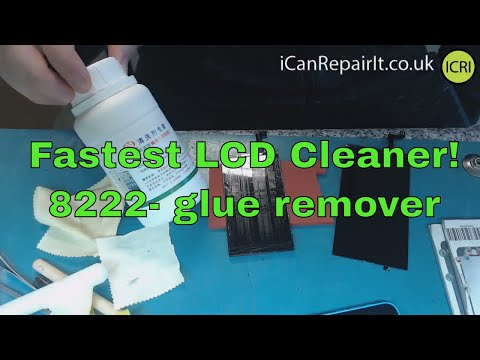 Fastest way to clean polariser glue from LCD's | iCanRepairIt.co.uk