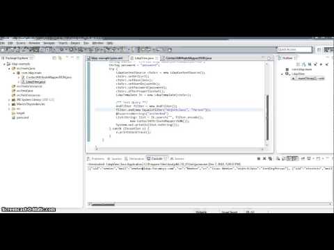 Spring Java LDAP from scratch - 2 - YouTube