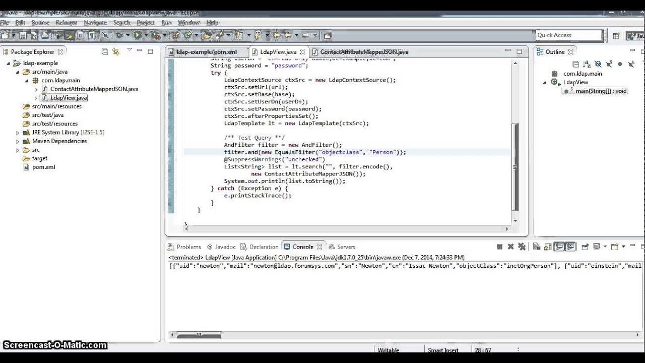 Spring Java LDAP from scratch - 2