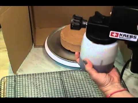 Electric food spray gun for chocolate application, model LM25 ...