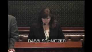 Rabbi Ora Simon Schnitzer leads the invocation of the Illinois House of Representatives