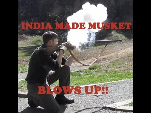 RAW INDIA MADE MUSKET BLOWS UP IN GUYS FACE!!!!