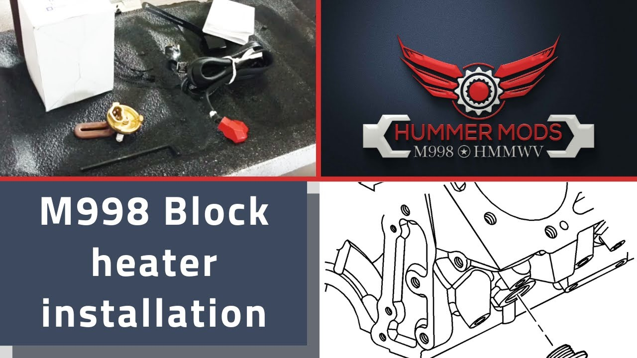2017 Dodge Ram 3500 >> HMMWV M998 Humvee 6.5L Block Heater install 6.2L Block Inspection and Frost Plug Removal - YouTube