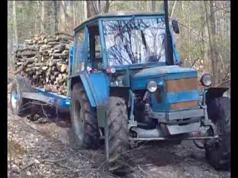 Zetor 6748 v lese
