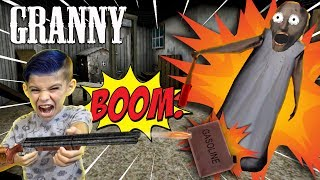 EXPLODING GRANNY WITH THE SHOTGUN AND GASOLINE!!