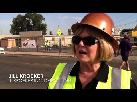 First high speed rail demolition in Fresno