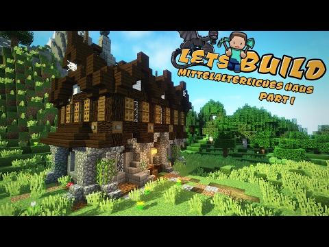 EINFACHES Mittelalterliches HAUS Bauen Minecraft Tutorial - Minecraft einfaches mittelalter haus bauen