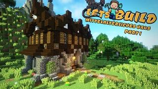 EINFACHES Mittelalterliches HAUS Bauen Minecraft Tutorial TomClip - Minecraft schones haus bauen youtube