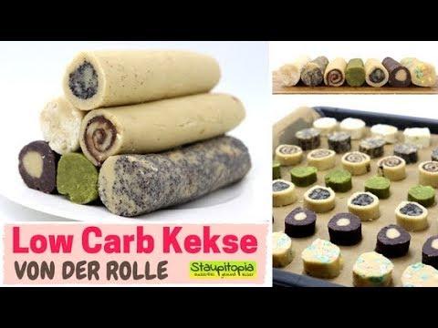 1 teig 7 low carb kekse schnelle low carb pl tzchen von der rolle mit mandelmehl backen youtube. Black Bedroom Furniture Sets. Home Design Ideas