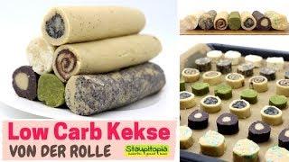 1 Teig - 7 Low Carb Kekse: schnelle Low Carb Plätzchen von der Rolle mit Mandelmehl backen
