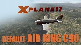 X Plane 11 Beta2 - Default King Air C90 Flight to Aspen! (KASE)
