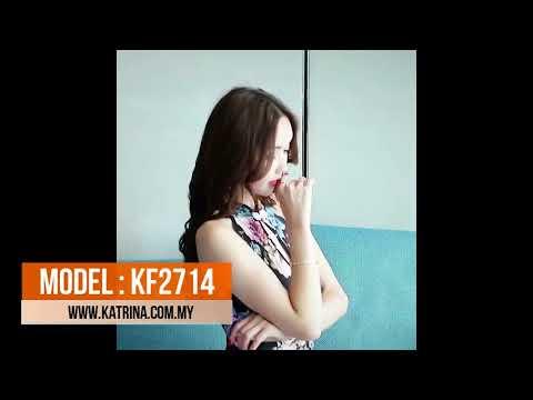 FLORAL PRINTED CHEONGSAM DRESS KF2714