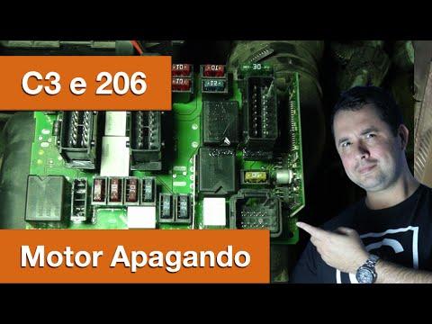 Dr CARRO Motor Apaga - C3 e 206 - Falha Unidade Cofre do Motor