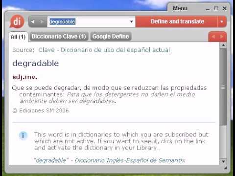 Definición de degradable