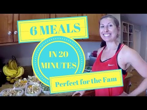 How to Meal Prep a Vegan Lunch 6 days in 20 minutes