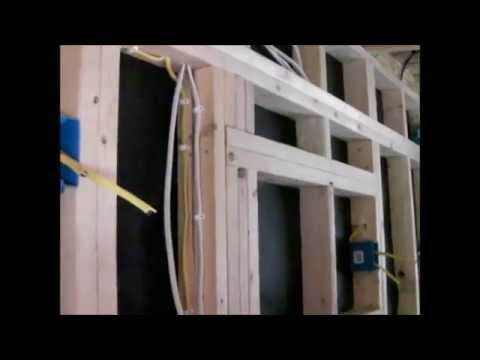 Building our Tiny House (electrical rough in done) - YouTube