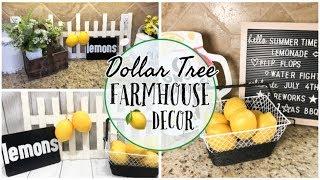 DOLLAR TREE DIY | FARMHOUSE DECOR | LEMON DECOR 🍋