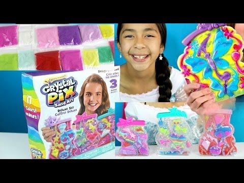 NEW Crystal Pix Sand Art Delux Set 17 Sand Colors Kids Activities   B2cutecupcakes