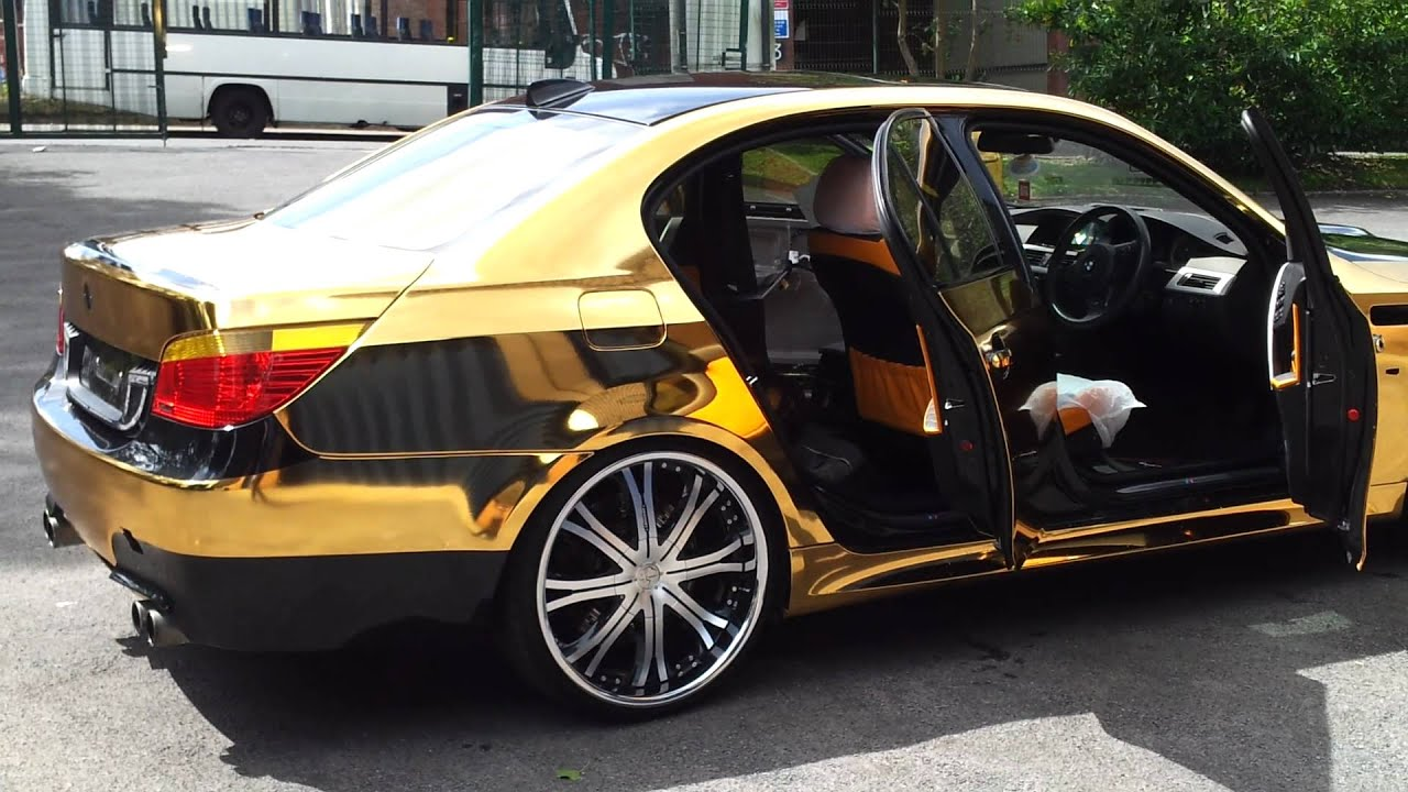 Bmw M5 Gold Chrome Unic Project Youtube