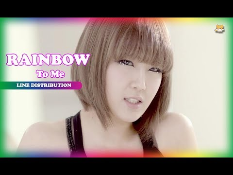Line Distribution: Rainbow - To Me (Color Coded)