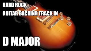 Hard Rock Guitar Backing Track In D Major / B Minor
