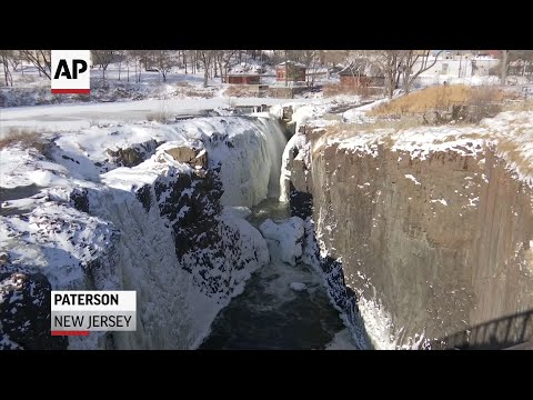 Braving Frigid Temps To See Frozen Waterfall