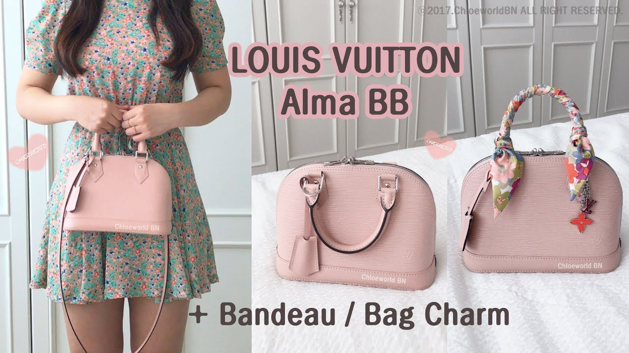 c768eb517908 Louis Vuitton Alma BB Epi Pink Tahitienne Bandeau
