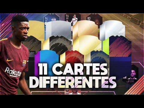 L'ÉQUIPE SKILL AVEC 11 CARTES DIFFÉRENTES! FIFA 18 Ultimate Team