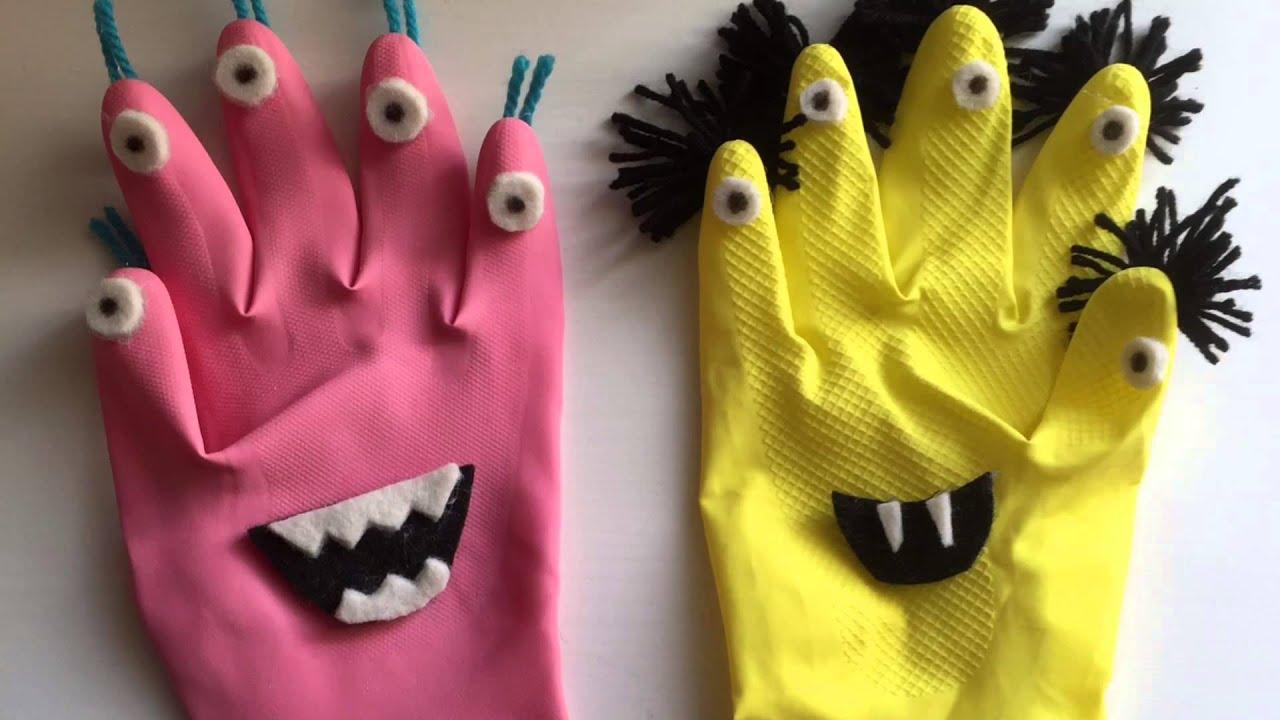 Mostri fai da te per halloween riciclando guanti in gomma for Fai da te creazioni