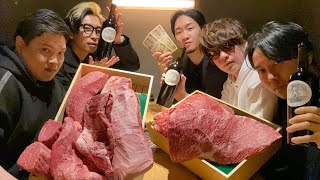 【200万の肉と酒】朝倉未来軍団と暴飲暴食したら動画の関係超えて仲良くなりすぎたww
