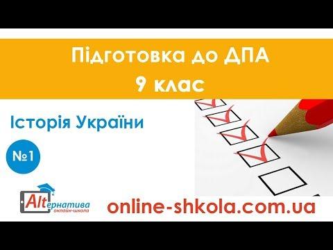 Підготовка до ДПА з історії України №1 (9 клас)