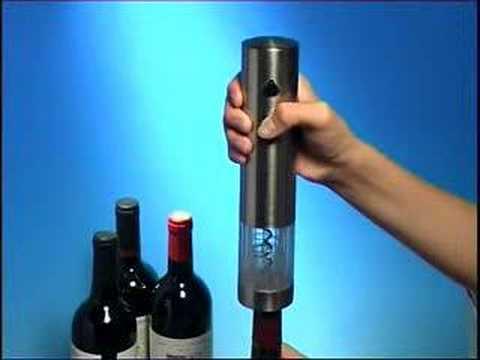 electric wine bottle opener youtube. Black Bedroom Furniture Sets. Home Design Ideas