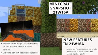 Minecraft Net: Snapshot 21w16a Released! New Dripstone Growth Data Pack For Cave Generation And More
