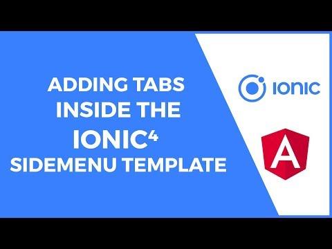 Adding Tabs Inside the Ionic 4 Sidemenu Template