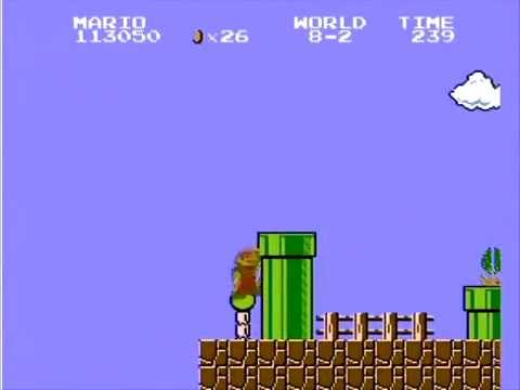Super Mario Bros. NES Level 8-2 1UP