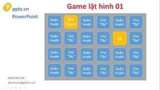 Game lật hình đơn giản trên PowerPoint