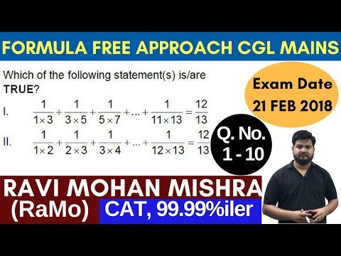 SSC CGL TIER-2 {2017} Mathematics Paper (21 Feb) Discussion Part-1 by RaMo [99.99%iler in CAT]