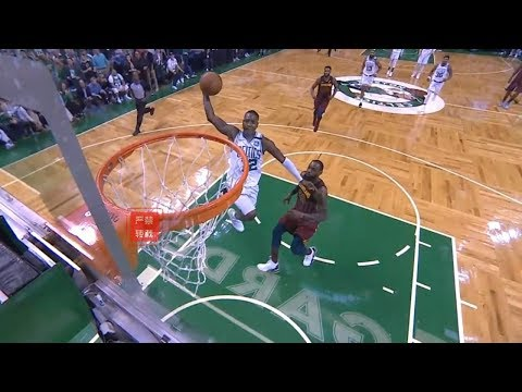 Terry Rozier Gives LeBron James The Death Stare After Dunking In Front Him!