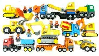 ألعاب الحفارات للأطفال تركيب حفارات Lego للأطفال فيديو تعلم الألوان مع ألعاب الشاحنات