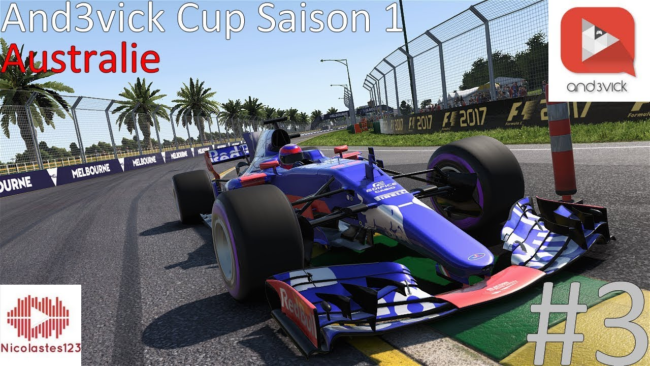 fr and3vick cup s1 m3 australie blue flag f1 2017 nicolastes123 youtube. Black Bedroom Furniture Sets. Home Design Ideas