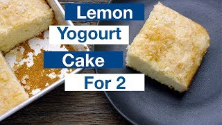 Lemon Yogourt Cake For Two