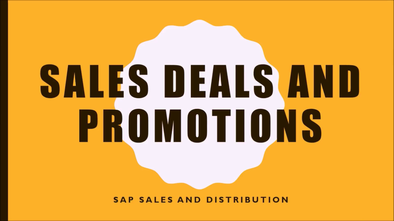 cd07d9a57634e SAP Sales Deal and Promotions - YouTube