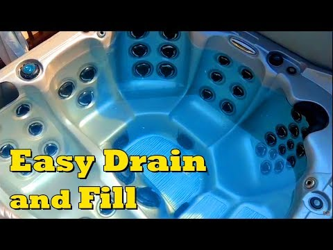 Easy Way To Drain And Fill A Hot Tub Or Pool