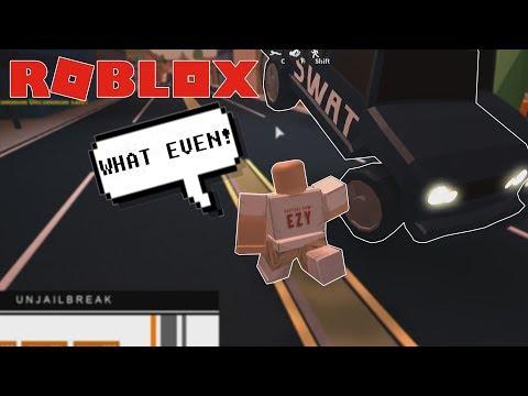 ROBLOX Exploit Trolling - FLYING SWAT CARS IN JAILBREAK